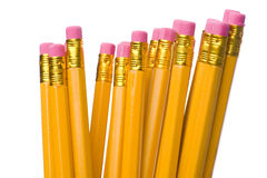 Crayon with eraser on white Royalty Free Stock Image