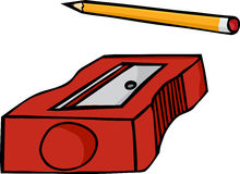 Crayon et affûteuse Photographie stock