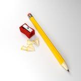 Crayon et affûteuse illustration de vecteur
