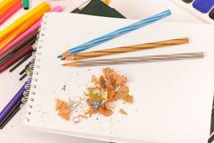 Crayon et affûteuse Images libres de droits