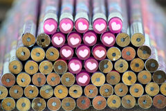 Crayon et amour Image stock