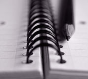 Crayon et bloc-notes Image libre de droits