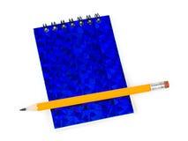 Crayon et bloc - notes Photographie stock libre de droits