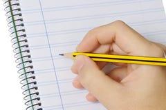 Crayon et cahier Photographie stock libre de droits
