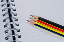 Crayon et cahier Photo libre de droits