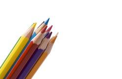 Crayon et couleur photographie stock