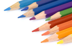 Crayon et couleur photo stock