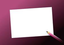 Crayon et feuille de papier Images libres de droits