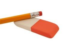 Crayon et gomme à effacer Photo stock