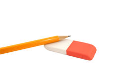 Crayon et gomme à effacer Image stock