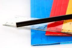 Crayon et grille de tabulation Image libre de droits