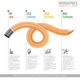 Crayon et Infographic Photos stock