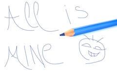 Crayon et note Image libre de droits