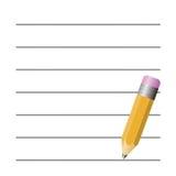 Crayon et papier illustration libre de droits