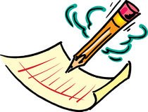 Crayon et papier Images libres de droits