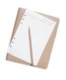 Crayon et papier sur le carnet Photos libres de droits