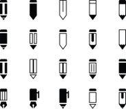 Crayon et Pen Various Icons Illustration de Vecteur