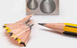 Crayon et sharperner de crayon Image libre de droits