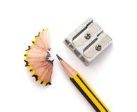 Crayon et sharperner de crayon Photographie stock libre de droits