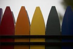 Crayon Fence Stock Photo