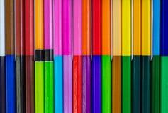 Crayon, fond coloré Photographie stock