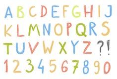 Crayon font Stock Photos