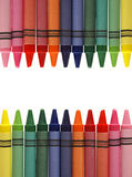 Crayon Frame Stock Image