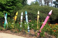 Crayon Garden at the Green Bay Botanical Gardens stock photos