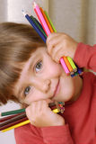 Crayon Girl. Royalty Free Stock Photos