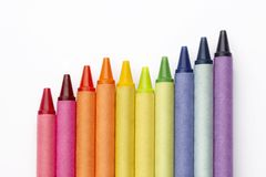 Crayon graph Stock Photos