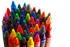 Crayon group Royalty Free Stock Images