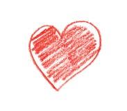 Crayon heart shape Royalty Free Stock Image