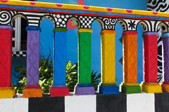 Crayon House. A colorful house in Isla Mujeres, Mexico Royalty Free Stock Image
