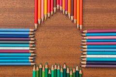 Crayon house Stock Photos