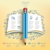 Crayon Infographics d'éducation d'affaires illustration stock