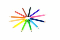 Crayon in isolated Royalty Free Stock Photo
