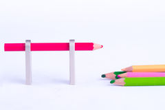 Crayon Isolated Royalty Free Stock Photo