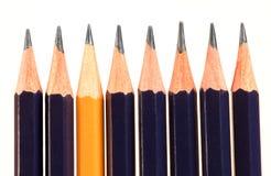 Crayon jaune Photographie stock