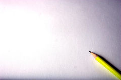 Crayon jaune Photo libre de droits
