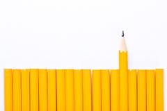 Crayon jaune Photographie stock libre de droits