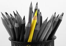 Crayon jaune de couleur Photographie stock libre de droits