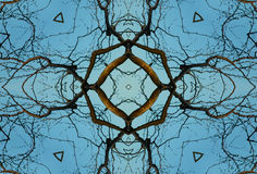 Crayon Kaleidoscope. A kaleidoscope, abstract fantasy, illustration, can be used as a background Stock Images