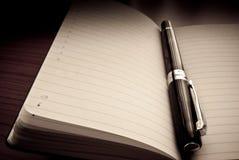 Crayon lecteur à l'organisateur/à ordre du jour Image libre de droits