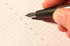 Crayon lecteur 03 d'encre Photo stock