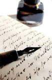 Crayon lecteur avec l'encre Photographie stock