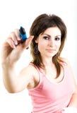 Crayon lecteur bleu Photo stock