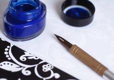 Crayon lecteur d'écriture de fontaine Photos stock