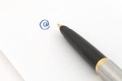 crayon lecteur d'or de fontaine Photographie stock