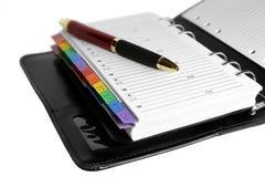 Crayon lecteur d'organisateur et de bille Photos stock