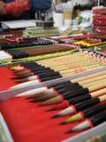 Crayon lecteur de balai Photos libres de droits